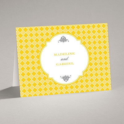Gingham Crest - Note Card and Envelope