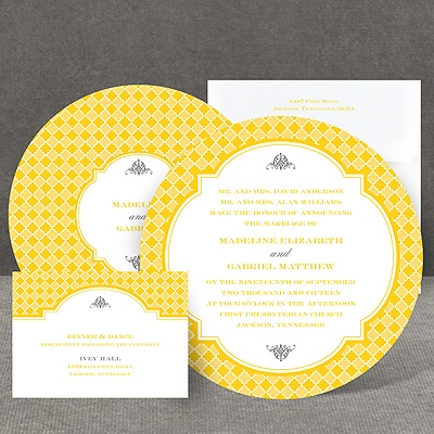 Gingham Crest - Invitation