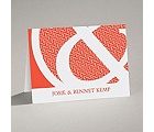 Patterned Ampersand - Note Card and Envelope