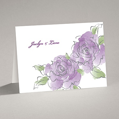 Artistic Roses - Note Card and Envelope