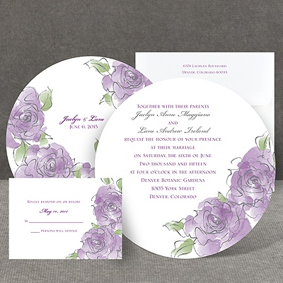 Artistic Roses - Invitation