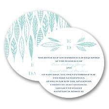 Feather Monogram - Invitation