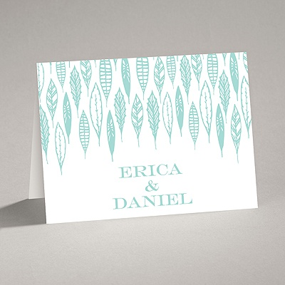 Feather Monogram - Note Card and Envelope