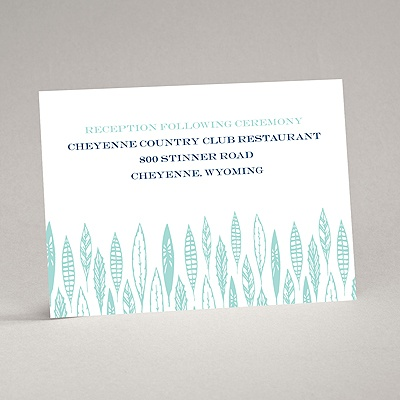Feather Monogram - Reception Card