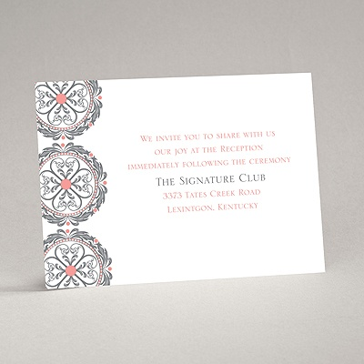Medallion Romance - Reception Card