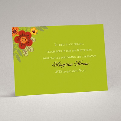 Floral Fiesta - Reception Card