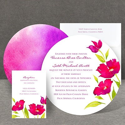 Bright Blossoms - Amethyst - Invitation
