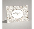 Mod Roses - Latte - Note Card and Envelope