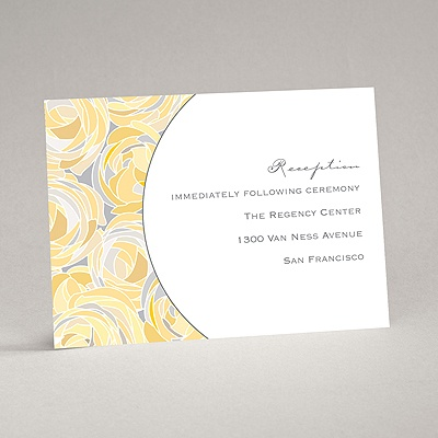 Mod Roses - Pewter - Reception Card