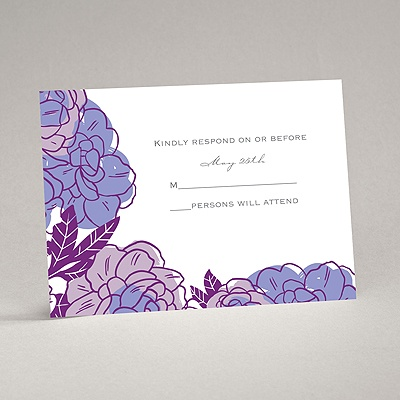 Petal Power - Grapevine - Response Card and Envelope