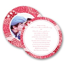 Petal Power - Posie Pink - Invitation