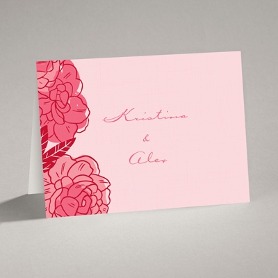Petal Power - Posie Pink - Note Card and Envelope