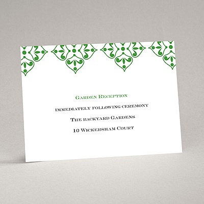 Diamond Flourishes - Reception Card