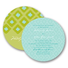 Ikat Elegance - Granny Apple - Invitation