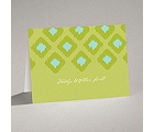 Ikat Elegance - Granny Apple - Note Card and Envelope