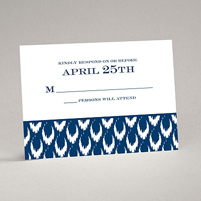 Ikat Style - Response Card and Envelope