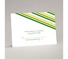 Stylish Stripes - Kelly Green - Response Card and Envelope