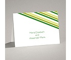 Stylish Stripes - Kelly Green - Note Card and Envelope