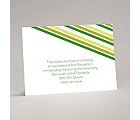 Stylish Stripes - Kelly Green - Reception Card
