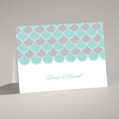 Sassy Scallops - Note Card and Envelope