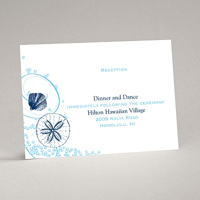 Beach Bliss - Reception Card