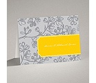 Blossom Border - Citrus - Note Card and Envelope