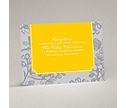 Blossom Border - Citrus - Reception Card