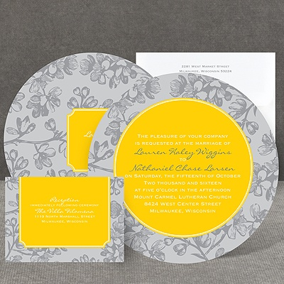 Blossom Border - Citrus - Invitation