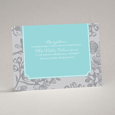 Blossom Border - Fountain - Reception Card