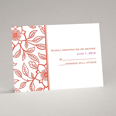 Flowering Vines - Response Card and Envelope