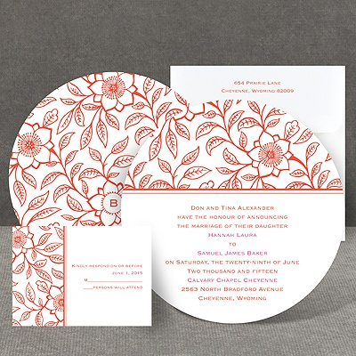 Flowering Vines - Invitation