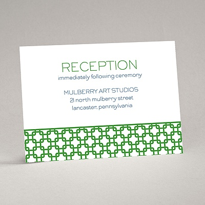 Linked In Love - Reception Card