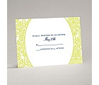 Surrounded in Damask - Limelight - Response Card and Envelope