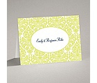 Surrounded in Damask - Limelight - Note Card and Envelope