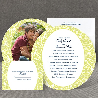 Surrounded in Damask - Limelight - Invitation