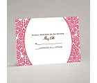 Surrounded in Damask - Posie Pink - Response Card and Envelope
