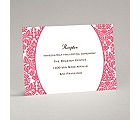 Surrounded in Damask - Posie Pink - Reception Card