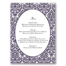 Damask Borders - Menu Card