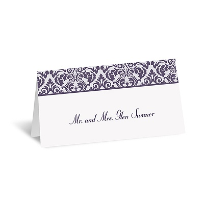 Damask Borders - Place Card