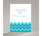 Custom Chevron - Response Card and Envelope