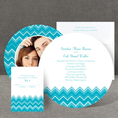 Custom Chevron - Invitation