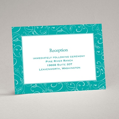 Flowery Filigree - Reception Card
