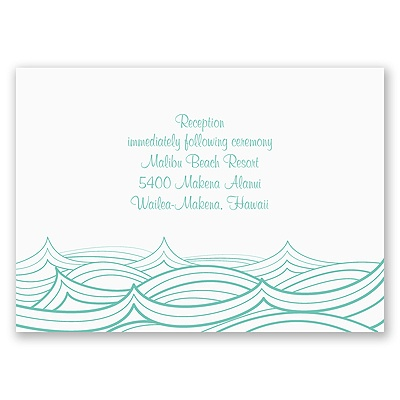 Making Waves - Reception Card