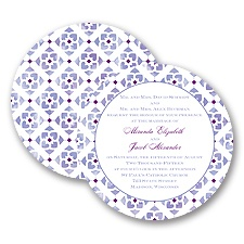 Romantic Mosaic - Grapevine - Invitation