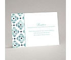 Romantic Mosaic - Navy - Reception Card