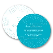 Dotted Swirls - Invitation