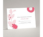 Funky Floral - Posie Pink - Response Card and Envelope