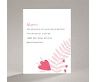 Funky Floral - Posie Pink - Reception Card