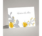 Funky Floral - Pewter - Note Card and Envelope