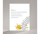 Funky Floral - Pewter - Reception Card
